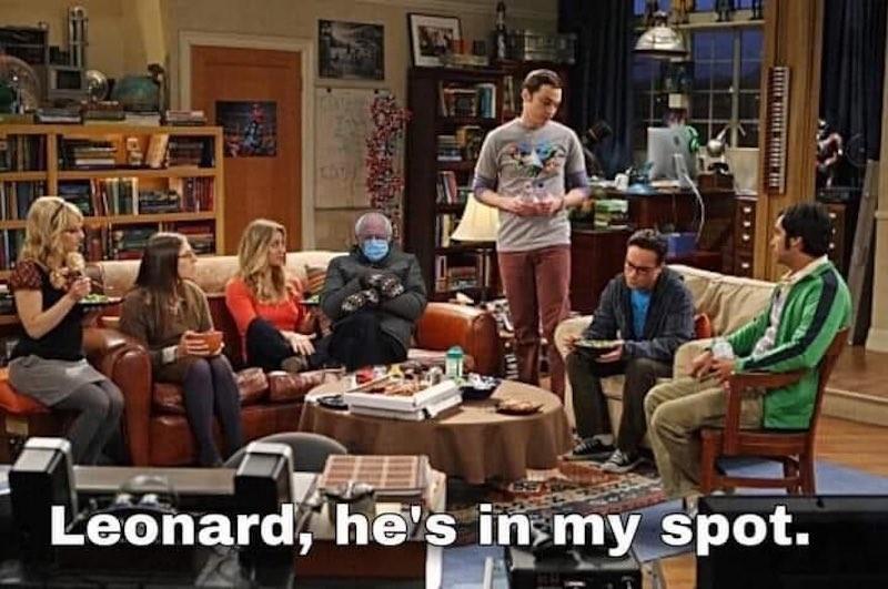 "Bernie on ""The Big Bang Theory"""