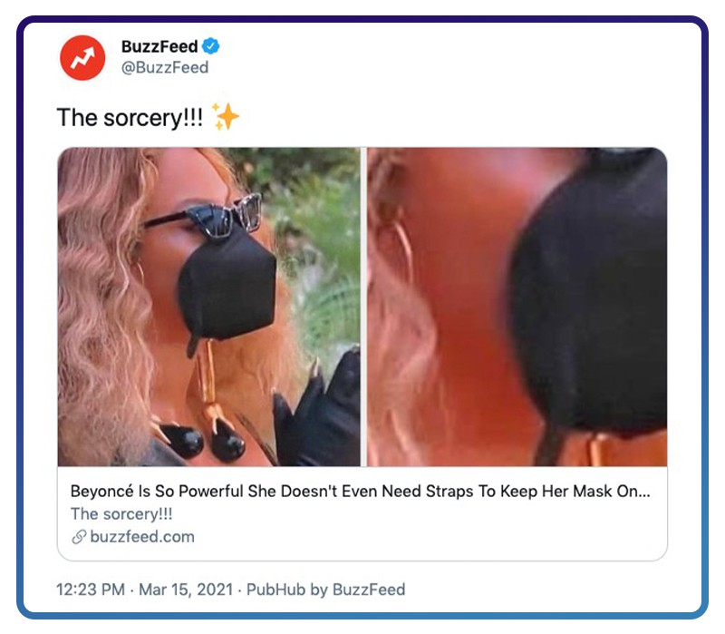 Twitter Beyoncé wearing a mask