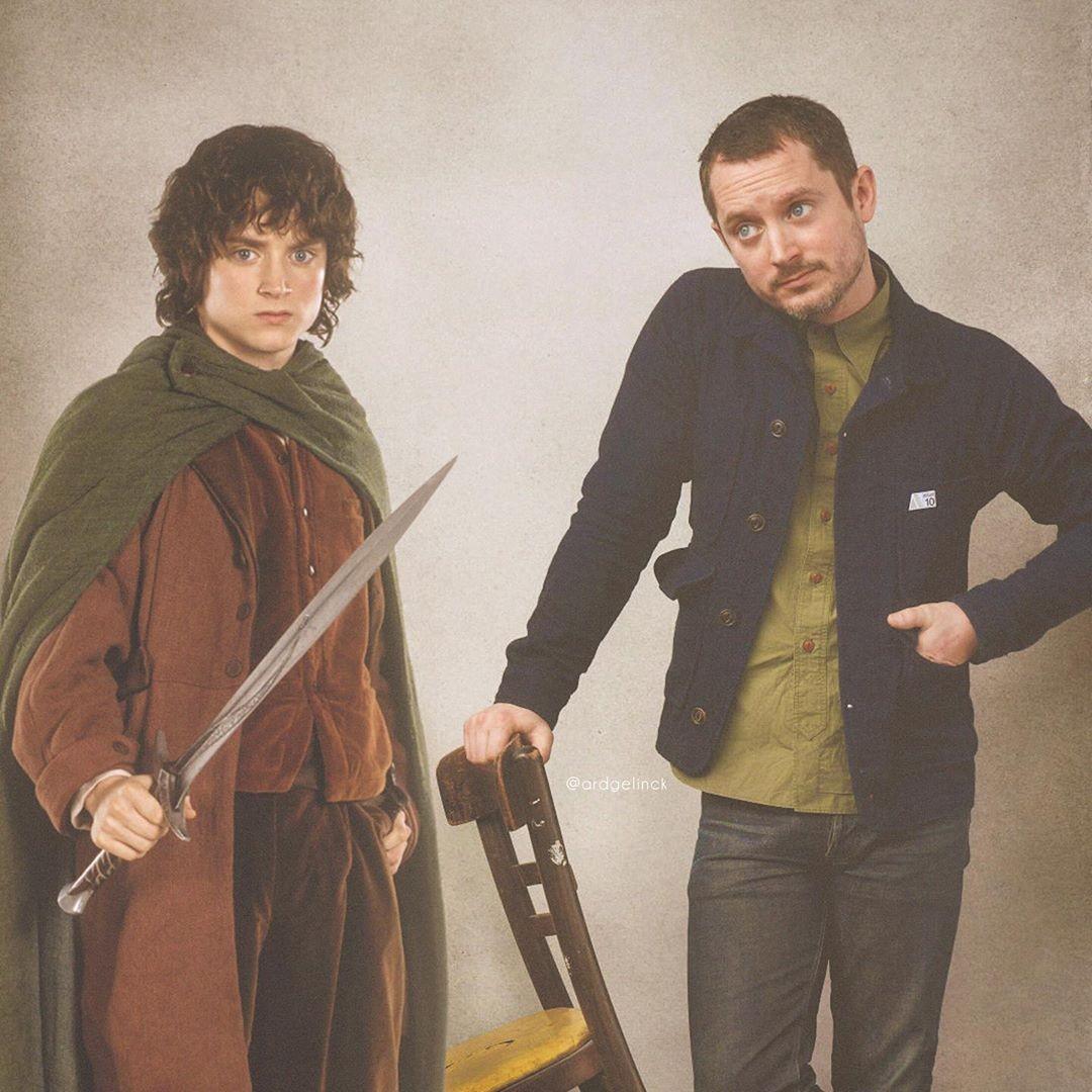 Elijah Wood and Frodo Baggins