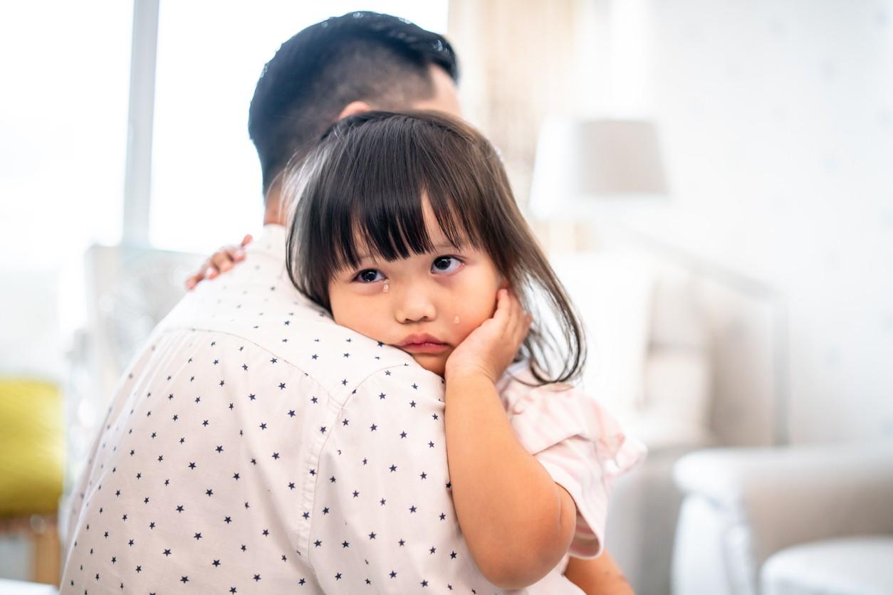 Crying Chinese girl