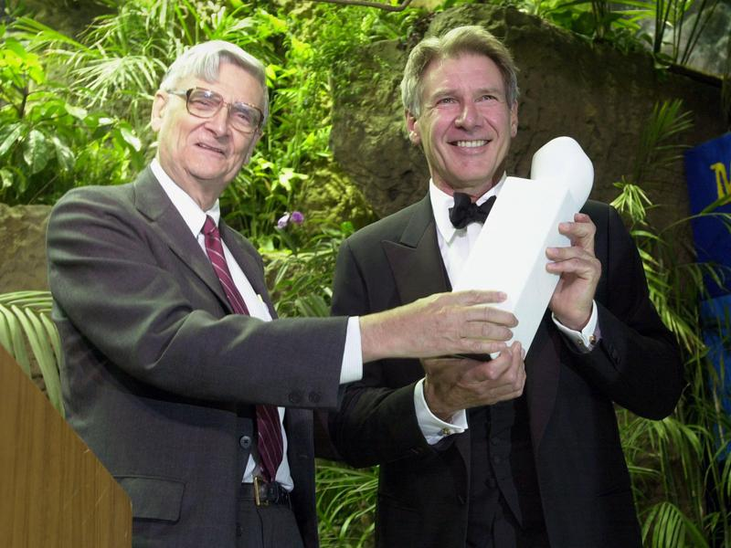 arrison Ford with the Global Environmental Citizen Award