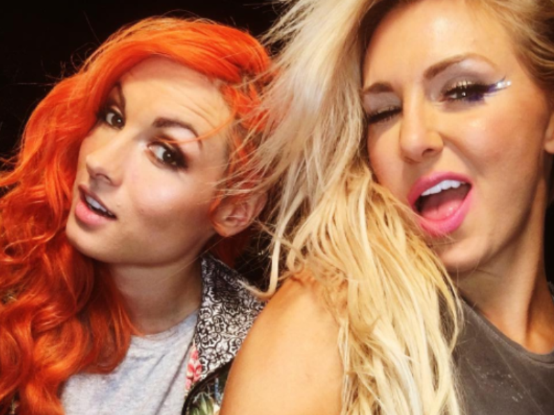 Becky Lynch and Charlotte Flair