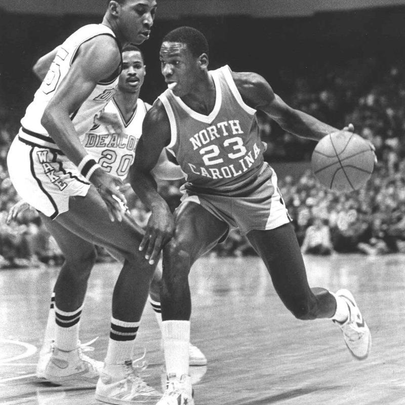 Michael Jordan in 1982
