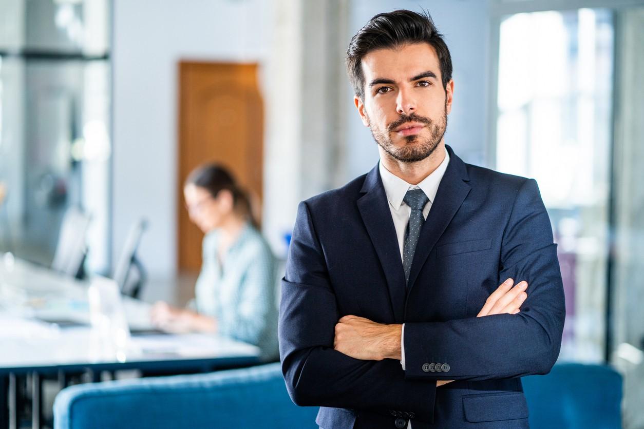 Portrait of successful businessman.