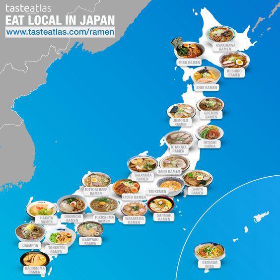 Map of ramen in Japan