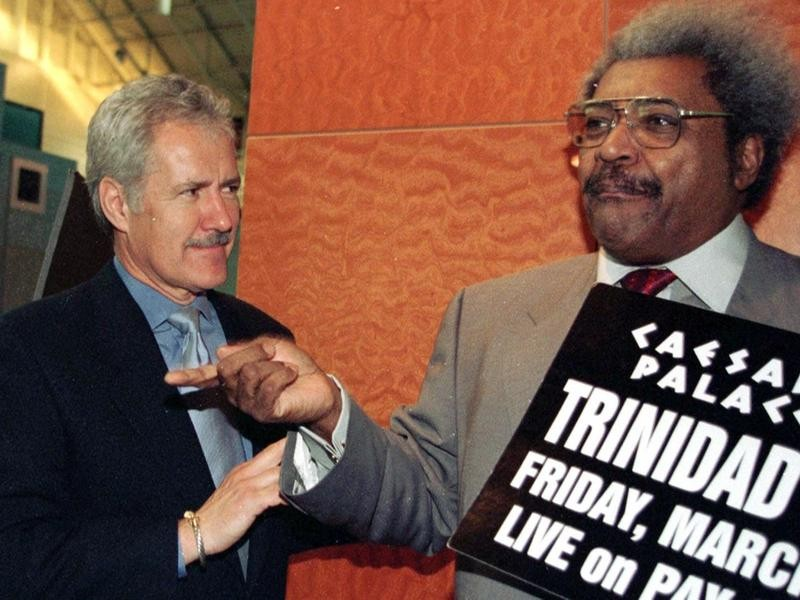 Alex Trebek and Don King in 2000