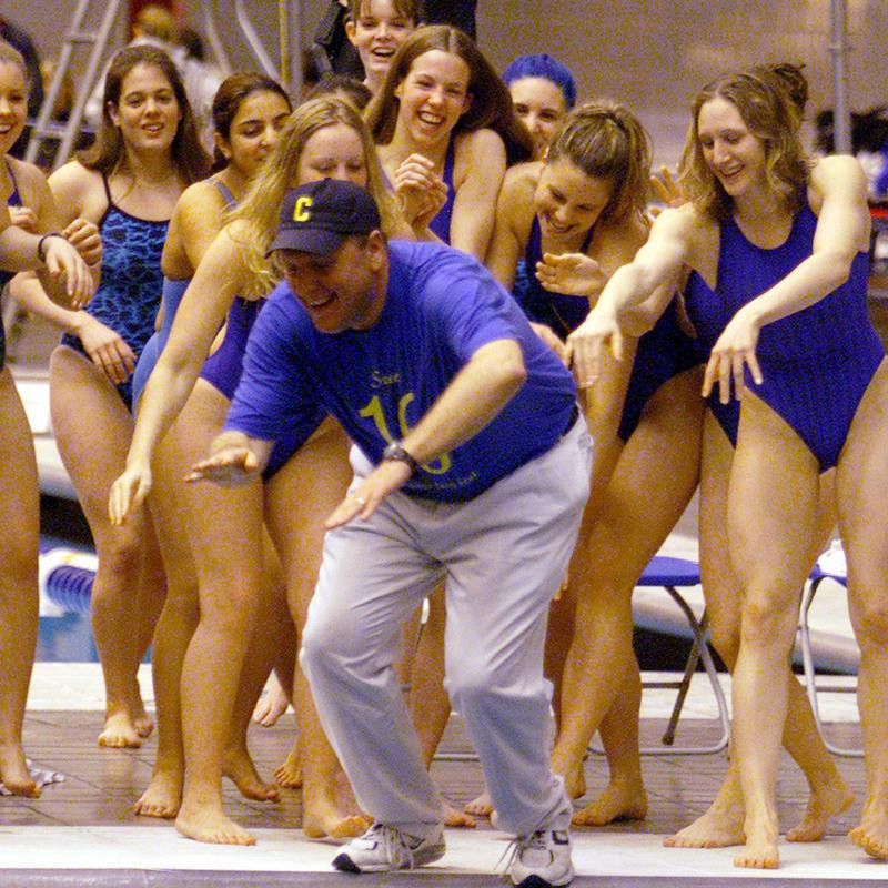 Ken Stopkotte and Carmel girls swimming