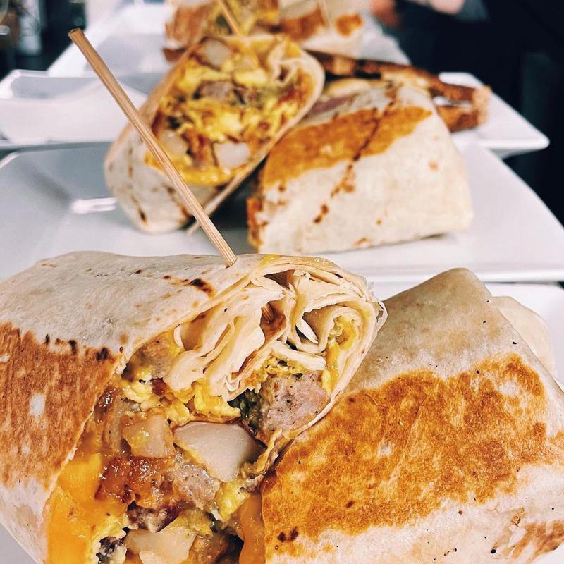 Breakfast burritos at Plunge LBC