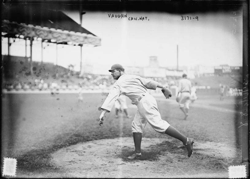 Hippo Vaughn pitching