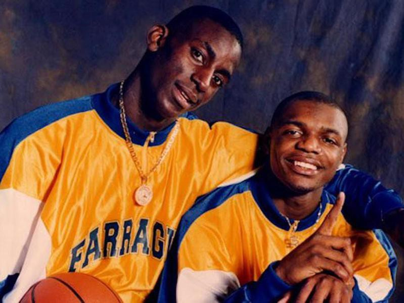 Farragut Academy's Kevin Garnett and Ronnie Fields