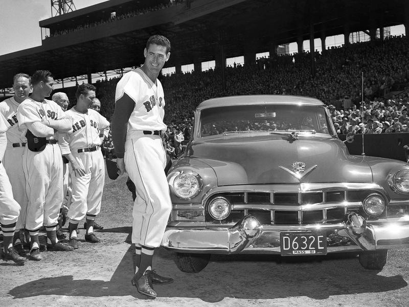 Ted Williams and his friends present him with new car