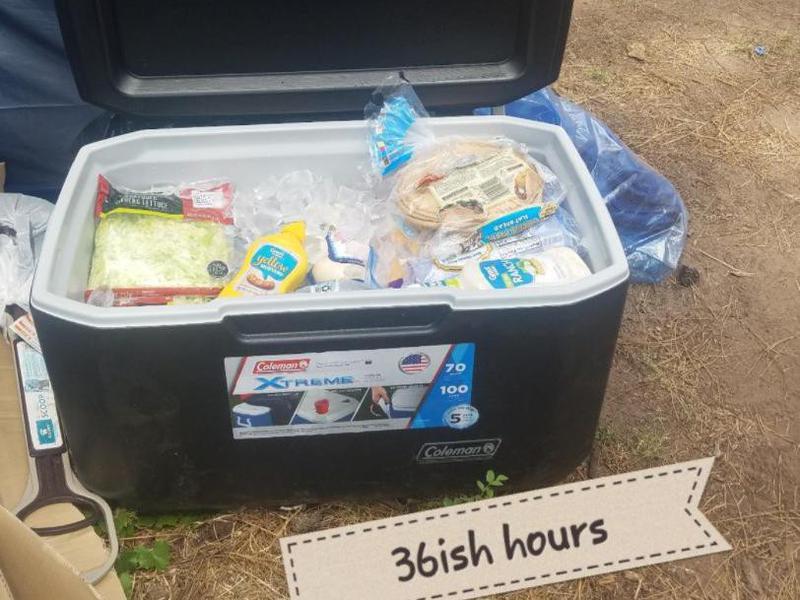 Coleman camping cooler