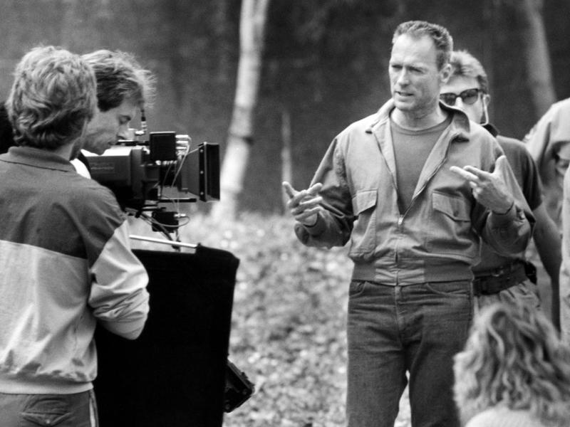 """Clint Eastwood, shown here filming """"Heartbreak Ridge"""" in 1986, started his own production company in 1968."""