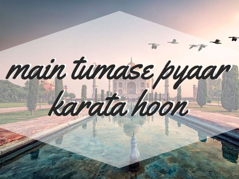 'I Love You' in Hindi