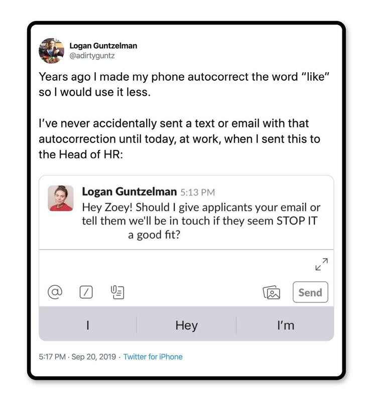 Remember the autocorrect