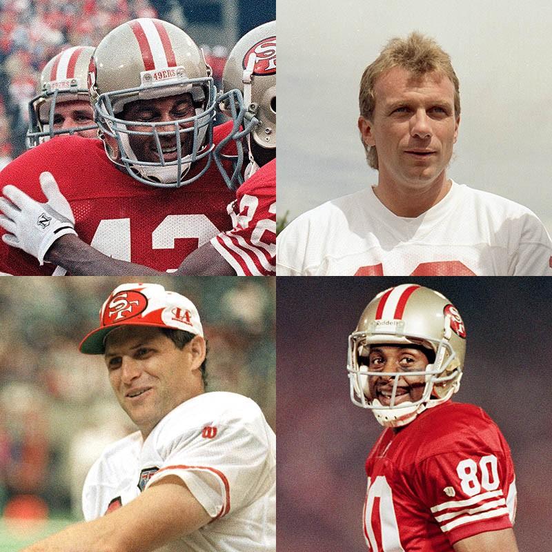 Ronnie Lott, Joe Montana, Jerry Rice, Steve Young