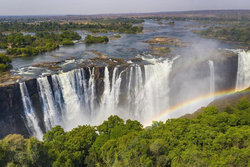 Victoria Falls on the border of Zambia and Zimbabwe