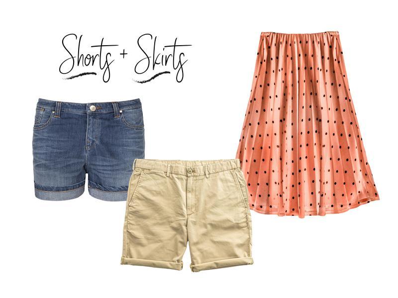 shorts snd skirts