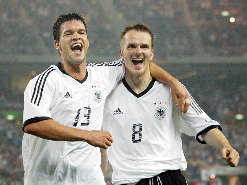 Michael Ballack and Dietmar Hamann