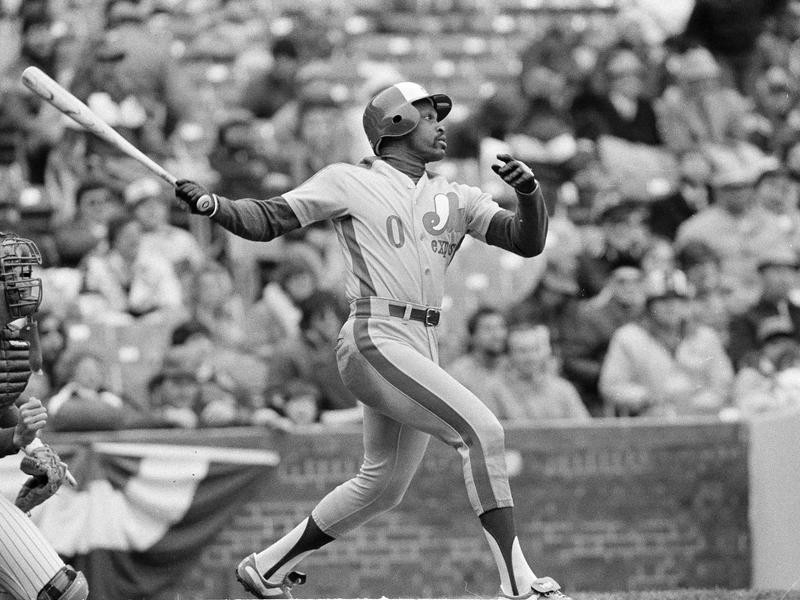 Al Oliver watches home run