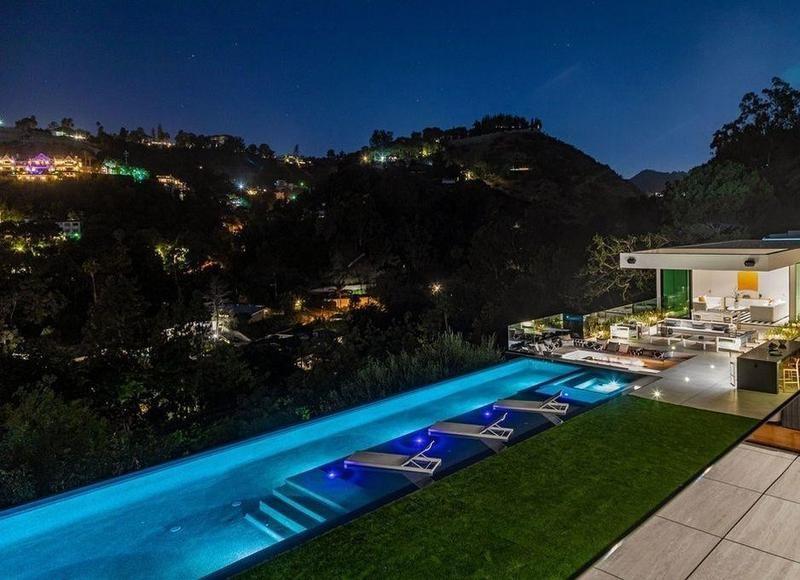 A backyard in Beverly Hills