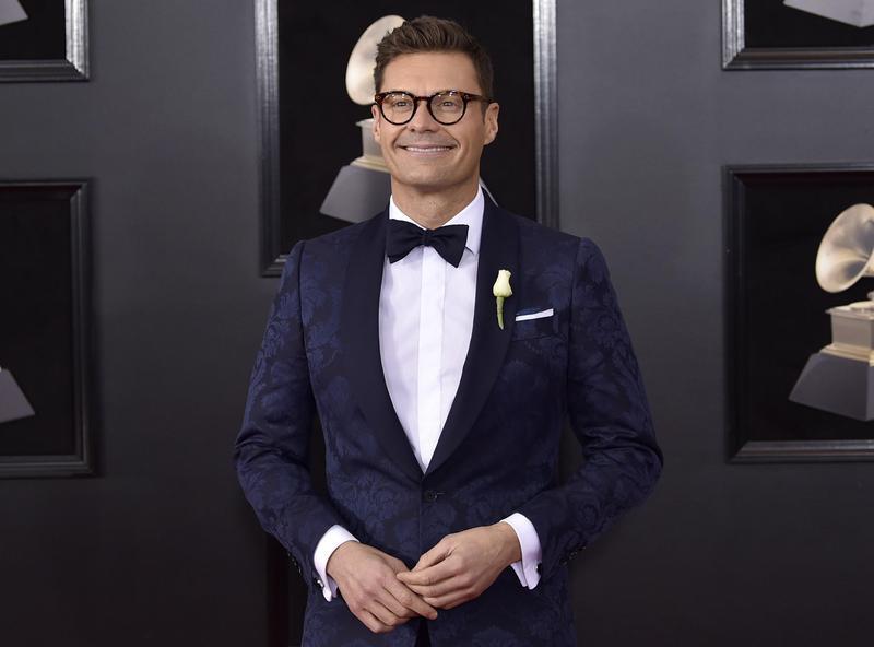 Ryan Seacrest poses at Grammy Awards