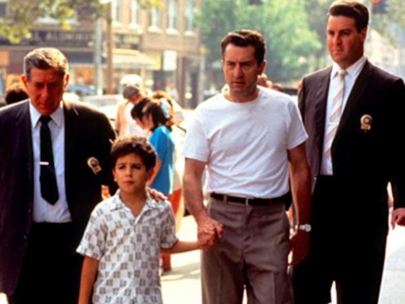 Robert De Niro, Francis Capra, Phil Foglia, and Mitch Kolpan in A Bronx Tale