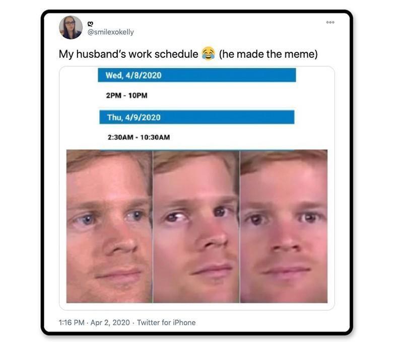 Meme-worthy schedule