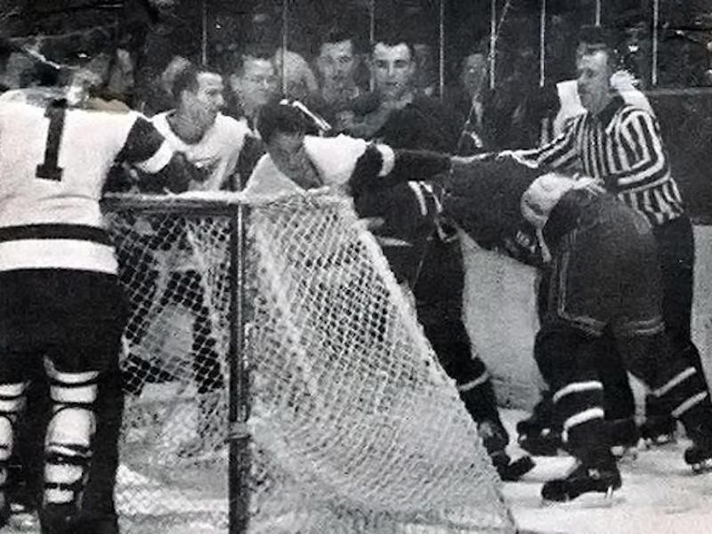 Gordie Howe and Lou Fontinato