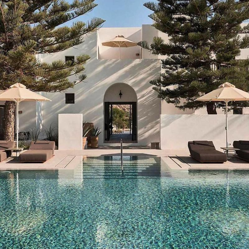 Tranquil Pool in Paros Island