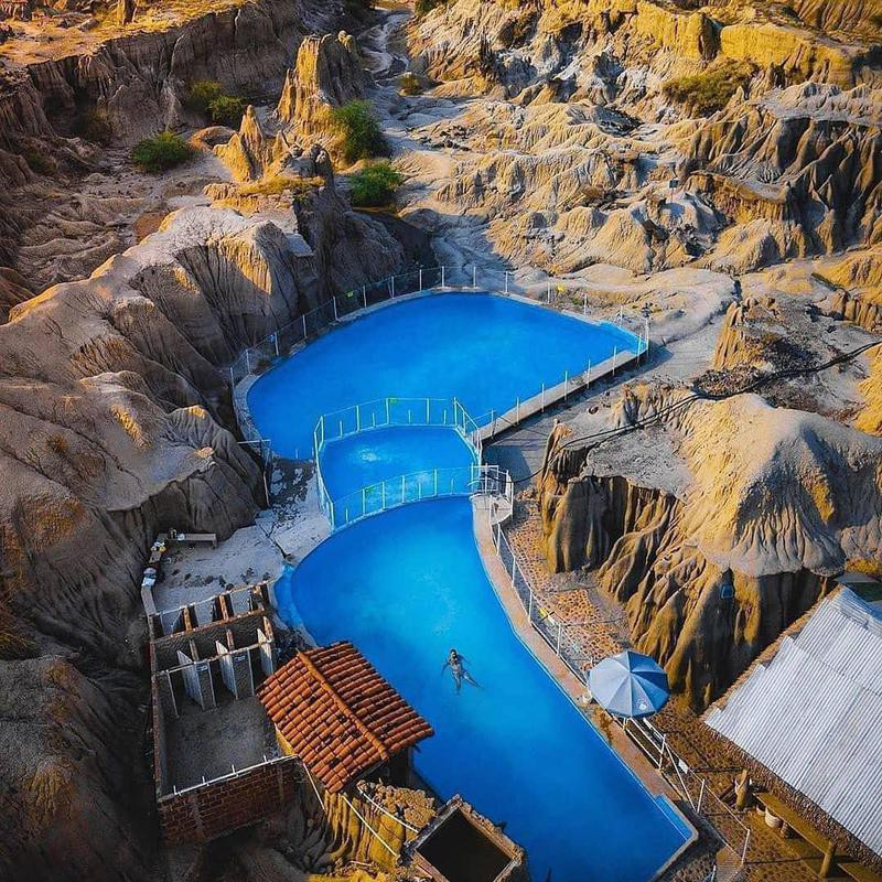 Pool in the Tatacoa Desert, Colombia