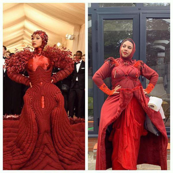Fashion Fans Recreate Celeb Looks in Met Gala Challenge