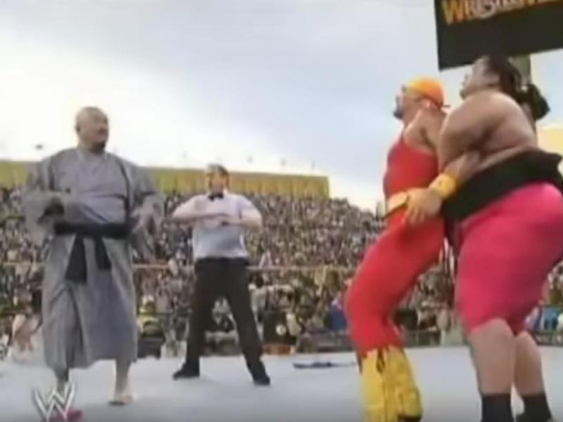 Mr. Fuji, Hulk Hogan and Yokozuna