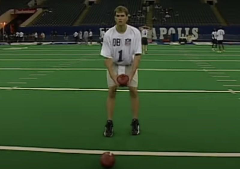 Tom Brady at 2000 NFL combine