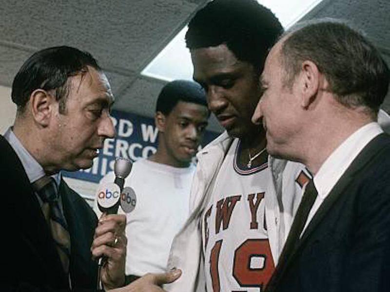 Howard Cosell and Willis Reed