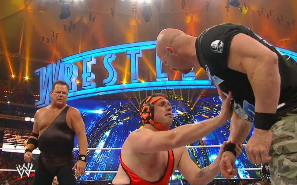 Michael Cole vs. Jerry Lawler at WrestleMania XXVII