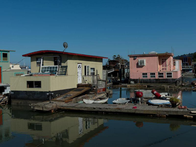 Houseboats in Richardson Bay