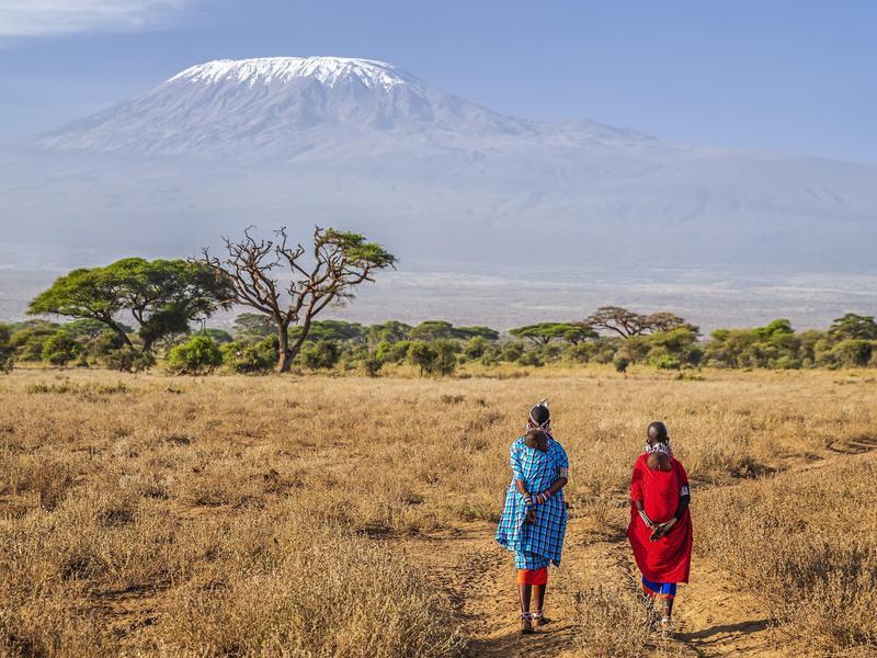 Mothers Walking Towards Kilimanjaro