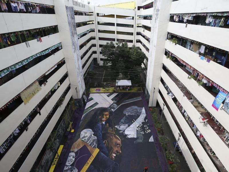 Kobe Bryant and Gianna Bryant mural in Phillipines