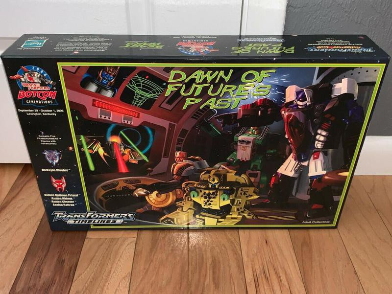2006 Dawn of Futures Past transformers boxed set