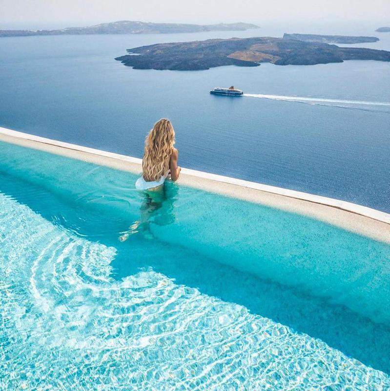 Clifftop Pool in Santorini