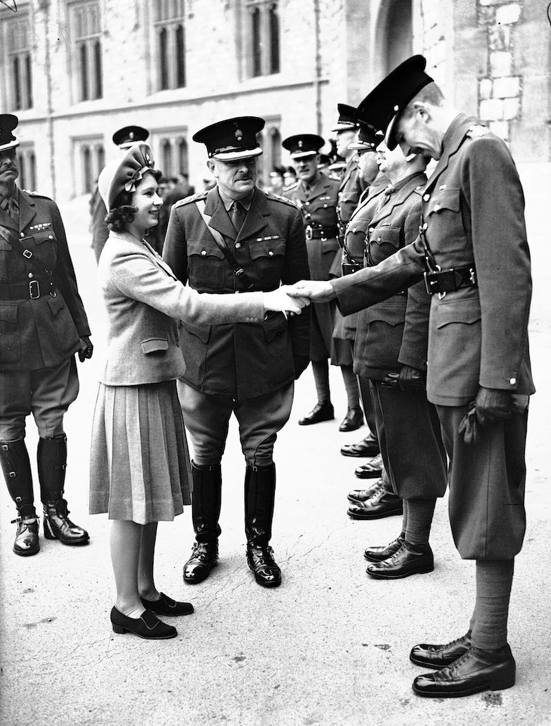 Princess Elizabeth meets Grenadier Guards