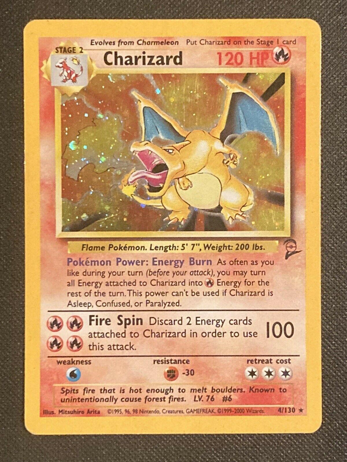 1999 Charizard Pokémon Holo card