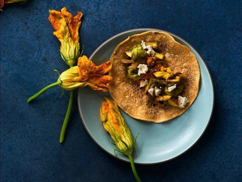 Vegan taco at Plant Food + Wine