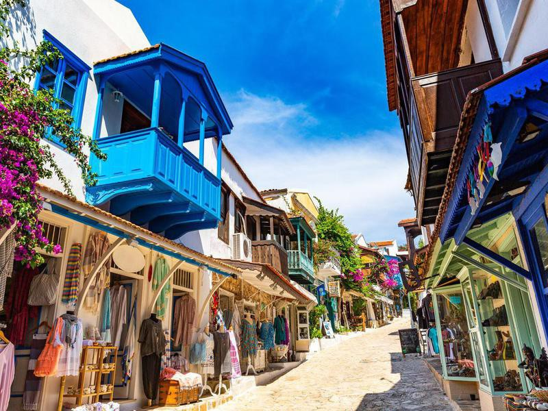 Kas old town in Turkey