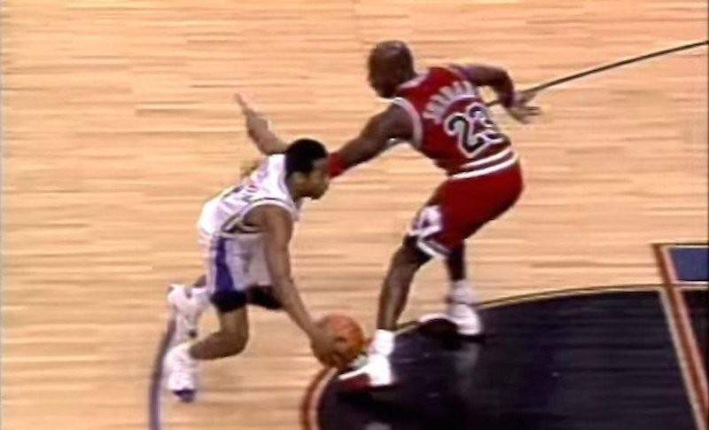Allen Iverson and Michael Jordan