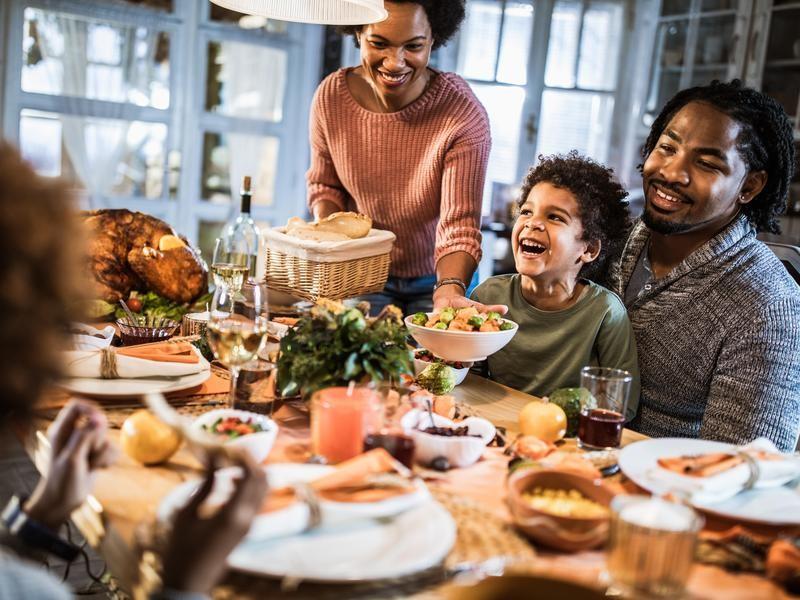 Family Enjoying Thanksgiving