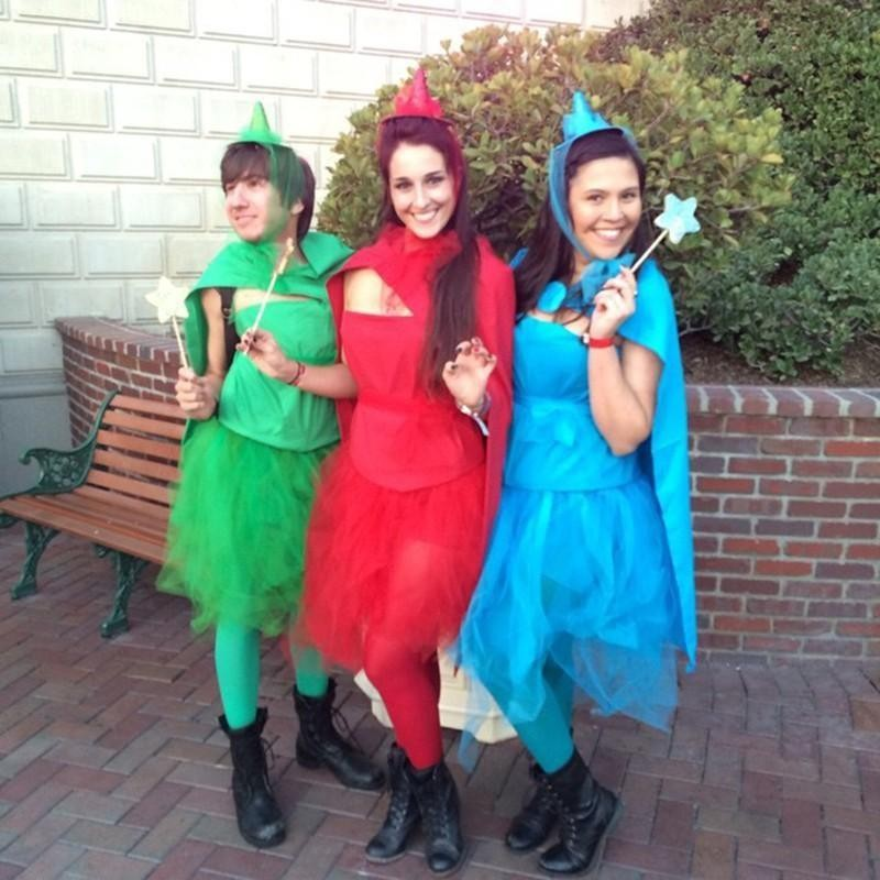Flora Fauna Merryweather costumes