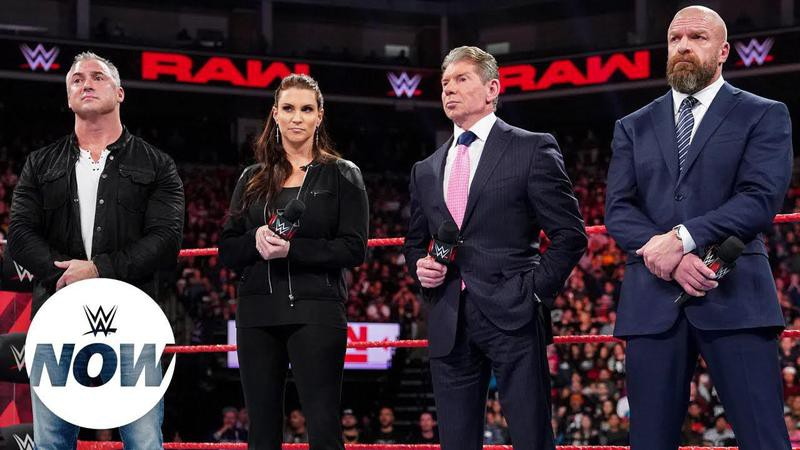 Shane, Stephanie, Vince McMahon and Triple H