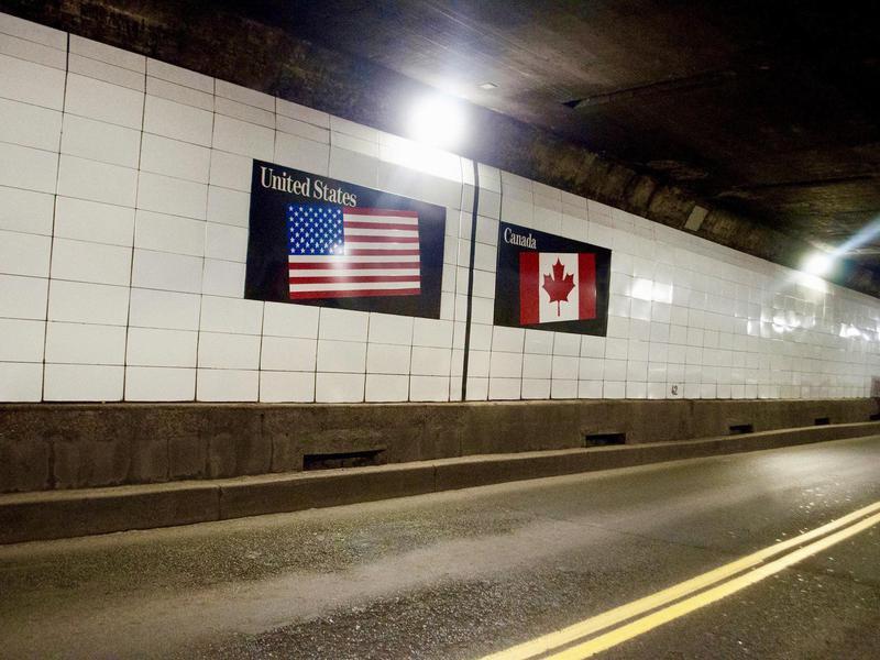 Detroit-Windsor border tunnel